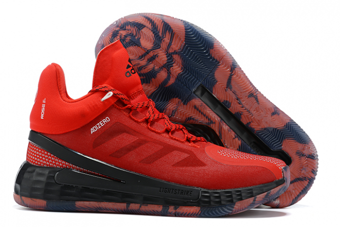 2020 adidas D Rose 11 University Red Black White For Sale 1 680x455