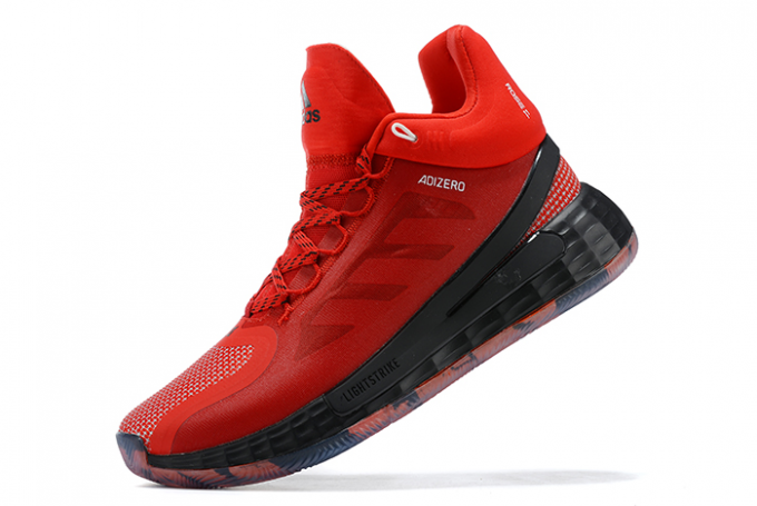 2020 adidas D Rose 11 University Red Black White For Sale 680x455