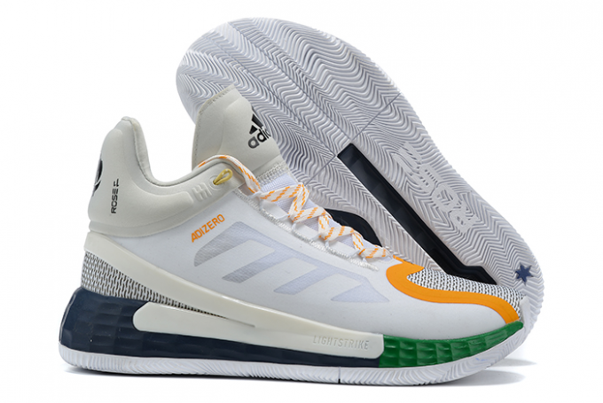 2020 adidas D Rose 11 White Orange Grey Navy For Sale 1 680x455