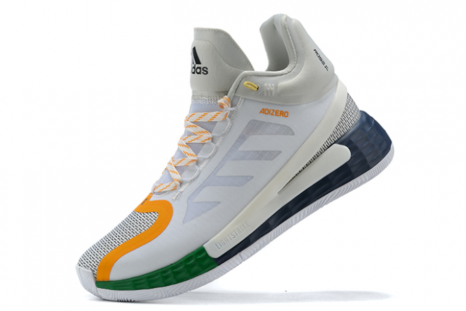 2020 adidas D Rose 11 White Orange Grey Navy For Sale 680x455