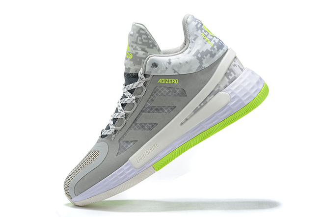 2020 adidas D Rose 11 Wolf Grey White Green For Sale