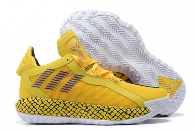 2020 adidas Dame 6 Lakers Yellow Court Purple White For Sale 1 680x455
