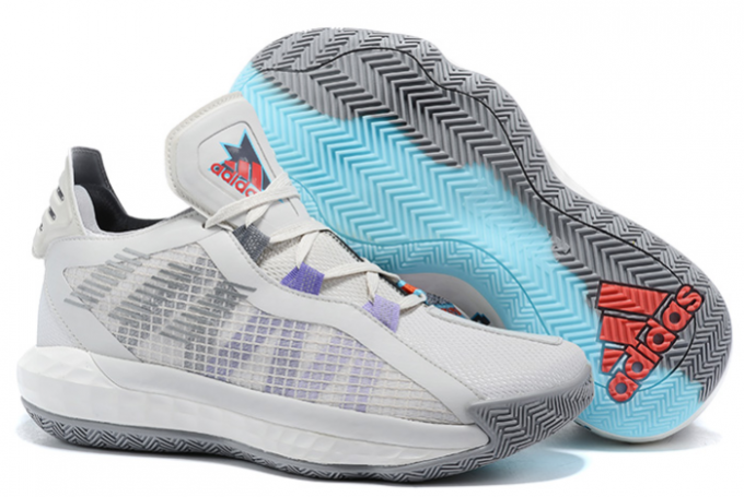 2020 adidas Dame 6 Light Grey Purple Black For Sale 1 680x455