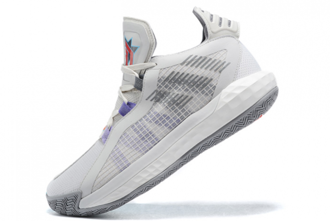 2020 adidas Dame 6 Light Grey Purple Black For Sale 680x455