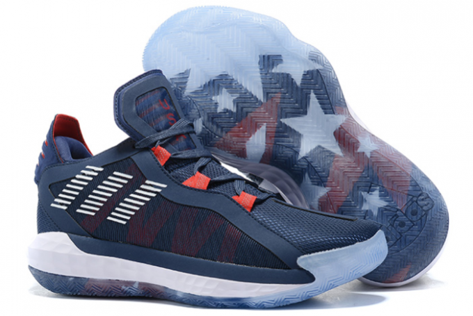 2020 adidas Dame 6 Navy Blue Red White For Sale 1 680x455