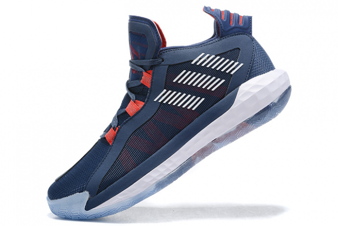 2020 adidas Dame 6 Navy Blue Red White For Sale 680x455