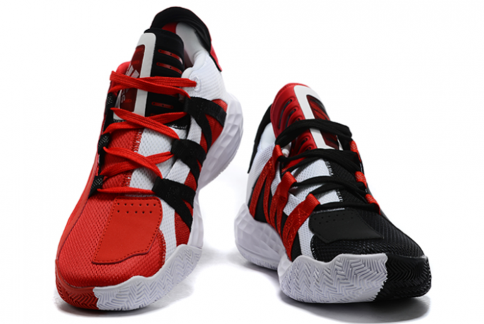 2020 adidas Dame 6 Scarlet Core Black Scarlet Cloud White FY0850 For Sale 1 680x455
