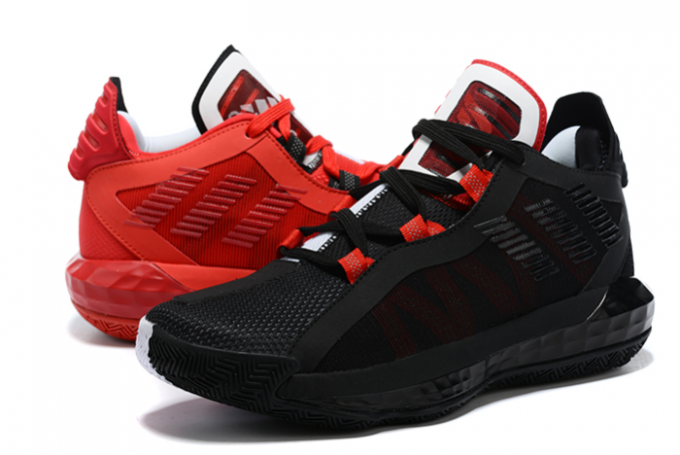 2020 adidas Dame 6 Scarlet Core Black Scarlet Cloud White FY0850 For Sale 680x455