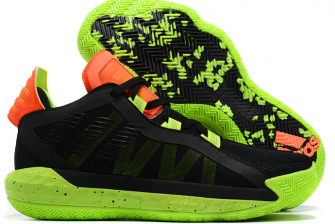 2020 adidas Dame 6 Signal Green Glory Purple Signal Coral EH2070 For Sale 1 680x455