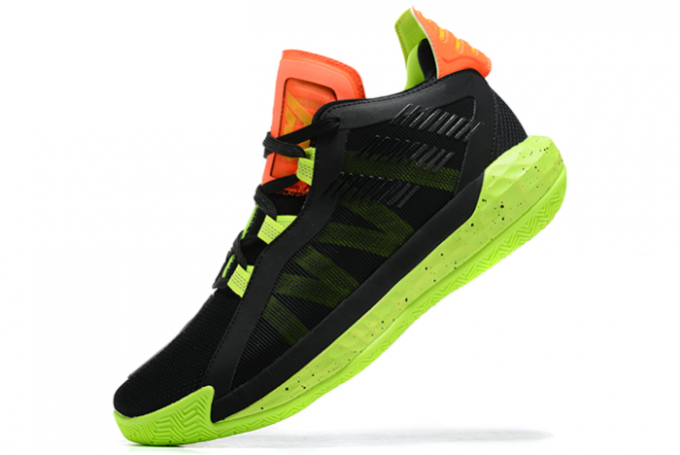 2020 adidas Dame 6 Signal Green Glory Purple Signal Coral EH2070 For Sale 680x455