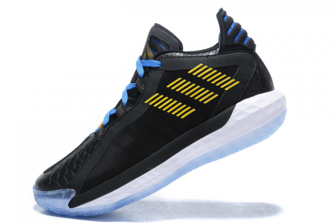 2020 adidas Dame 6 Stone Cold Black Gold Metallic Team Royal Blue FV4214 For Sale 680x455