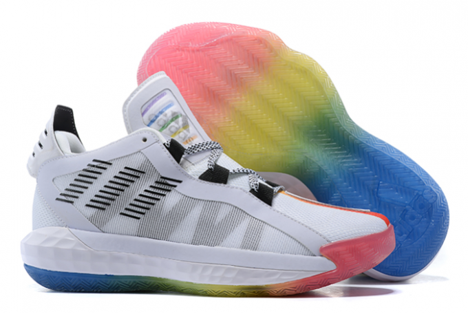 2020 adidas Dame 6 White Multi Color For Sale 1 680x455