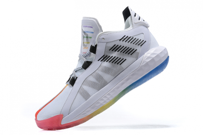2020 adidas Dame 6 White Multi Color For Sale 680x455