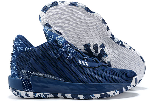 2020 adidas Dame 7 I Am My Own Fan Collegiate Navy Silver Metallic FY0162 For Sale 1
