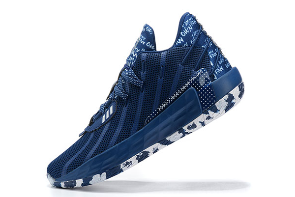 2020 adidas Dame 7 I Am My Own Fan Collegiate Navy Silver Metallic FY0162 For Sale
