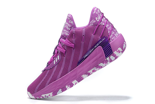 2020 adidas Dame 7 I Am My Own Fan Glory Purple Cloud White FY0159 For Sale