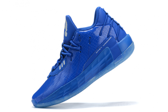 2020 adidas Dame 7 Royal Blue Silver For Sale 680x455