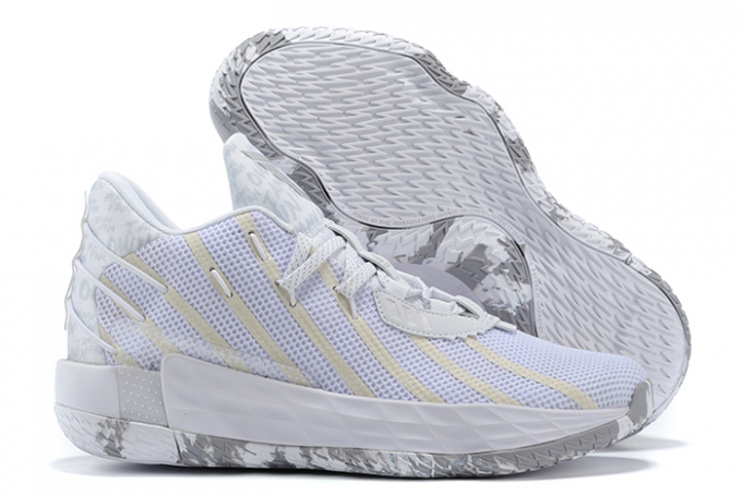 2020 adidas Dame 7 White Silver For Sale 1 680x455