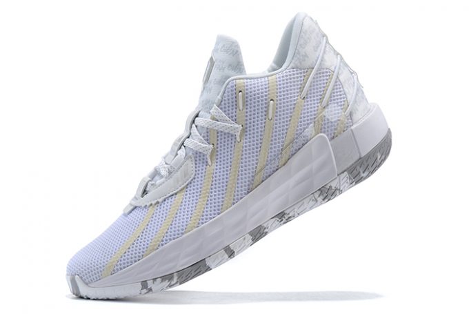 2020 adidas Dame 7 White Silver For Sale 680x455