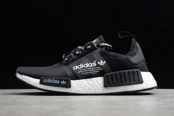 2020 adidas NMD R1 Black White Shoes F99177 For Sale