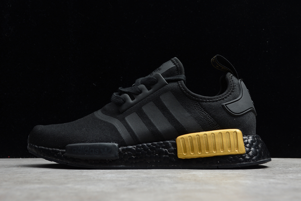 2020 adidas NMD R1 Core Black/Gold Metallic FV1787 For Sale