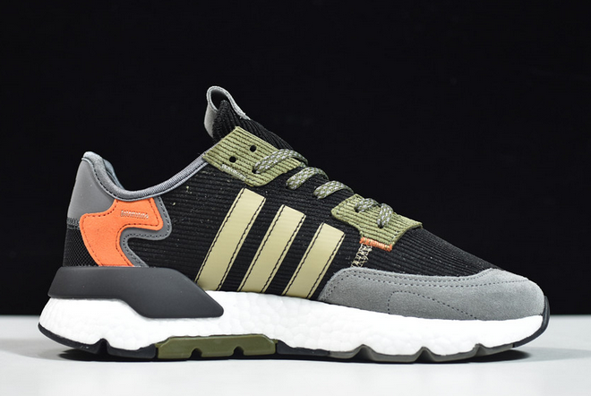 2020 adidas Nite Jogger Boost Black Red Green FZ1960 For Sale 1