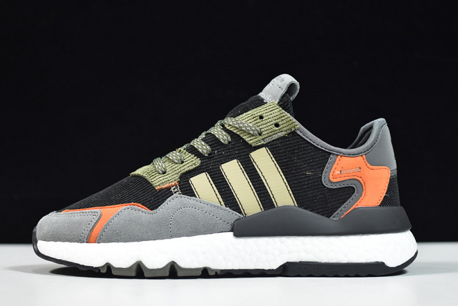 2020 adidas Nite Jogger Boost Black Red Green FZ1960 For Sale