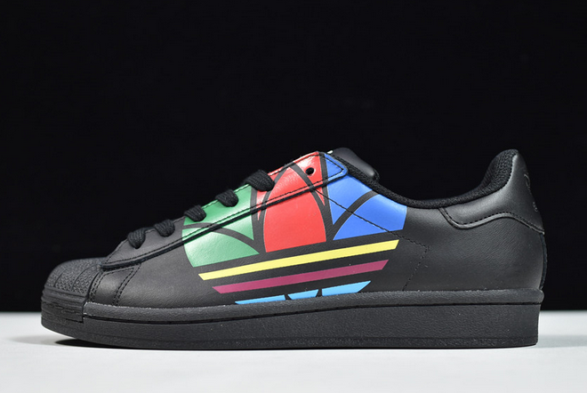 2020 adidas Superstar Pure Colorful Trefoil Core Black FU9518 For Sale