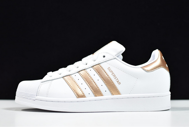 2020 adidas Superstar White Copper Metallic Black EE7399 For Sale