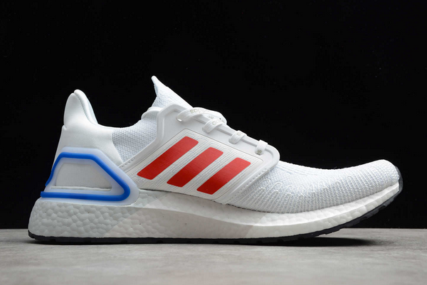 2020 adidas Ultra Boost 20 City Pack Seoul Cloud White Glory Red Royal Blue FX7813 For Sale 1