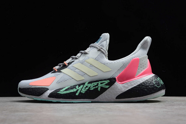 2020 adidas X9000L4 Cyberpunk 2077 Grey Two Yellow Zest Signal Pink FZ3092 For Sale