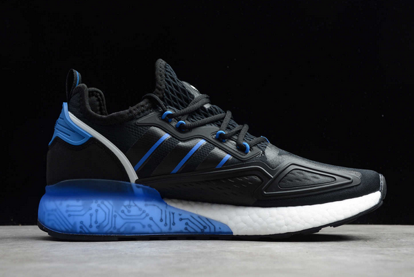 2020 adidas ZX 2K Boost Black Bright Royal FY1458 For Sale 1