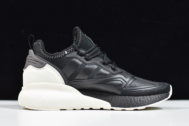 2020 adidas ZX 2K Boost Black White FX9113 For Sale 1
