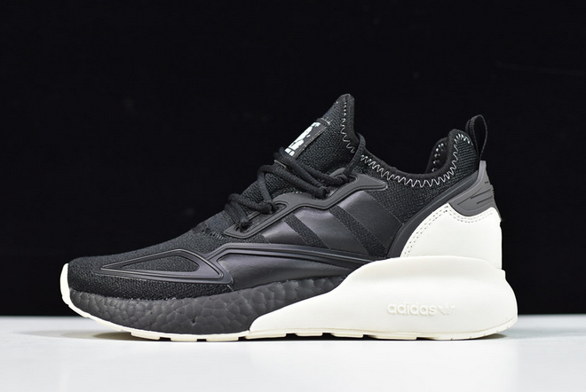 2020 adidas ZX 2K Boost Black White FX9113 For Sale