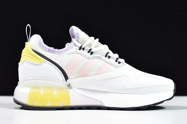 2020 adidas ZX 2K Boost White Pink Tint FY3028 For Sale 1