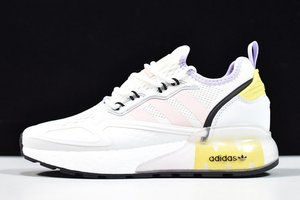 2020 adidas ZX 2K Boost White Pink Tint FY3028 For Sale