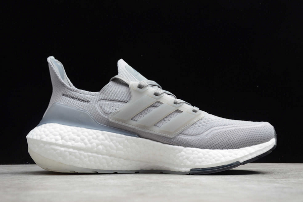 New adidas Ultra Boost 21 Cool Grey White Black FY0381 For Sale 1