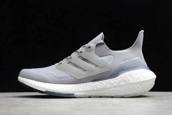 New adidas Ultra Boost 21 Cool Grey White Black FY0381 For Sale