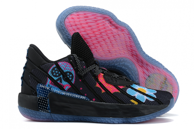 2020 adidas Dame 7 Core Black Semi Solar Pink Bold Gold For Sale 1 680x455