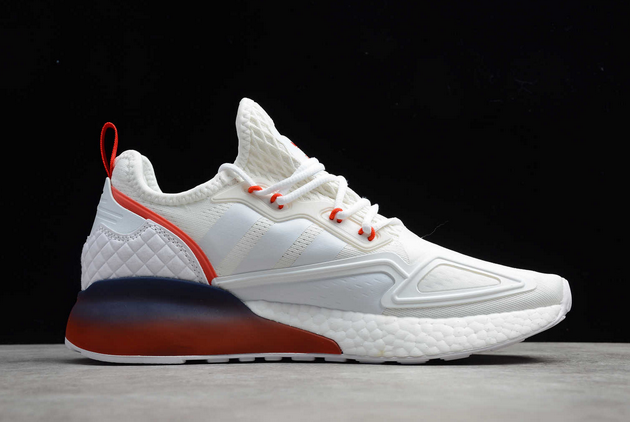 2020 adidas ZX 2K Boost White Red Midnight FZ44640 For Sale 1