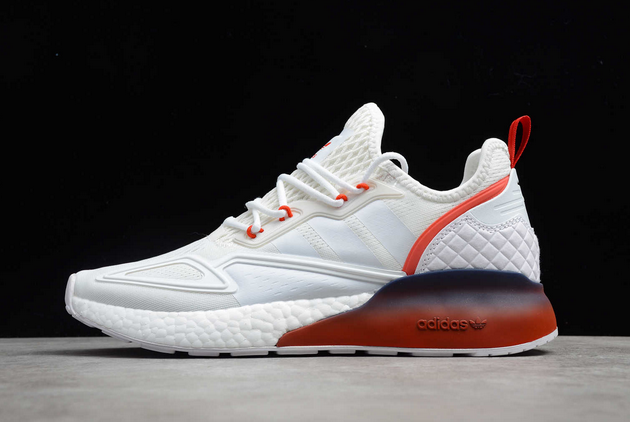 2020 adidas ZX 2K Boost White Red Midnight FZ44640 For Sale