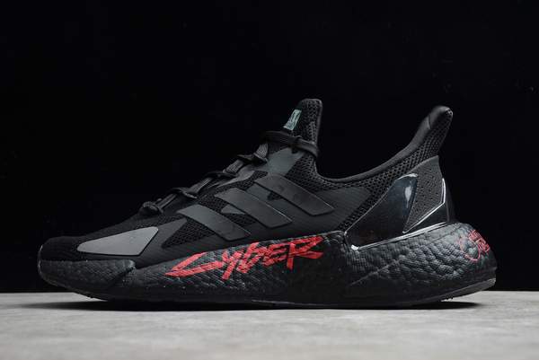 2021 Cyberpunk 2077 x adidas X9000L4 Boost Black Night Metallic FZ3091 For Sale