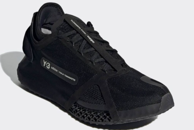 2021 adidas Y 3 Runner 4D IO Black Core White FZ4502 For Sale 1