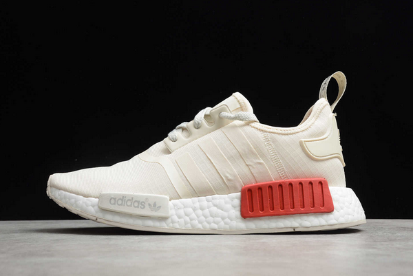 2021 adidas NMD R1 Beige/Red-White D37619 For Sale