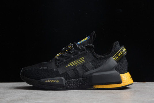 2021 adidas NMD R1 V2 Black Yellow Gradient GY5354 For Sale