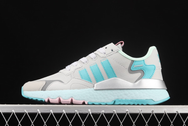 2021 adidas Nite Jogger Boost Grey Blue Silver H01729 For Sale