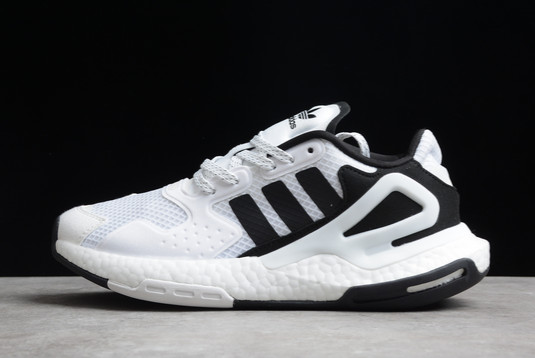2021 adidas Day Jogger Boost White Black FW5900 For Sale