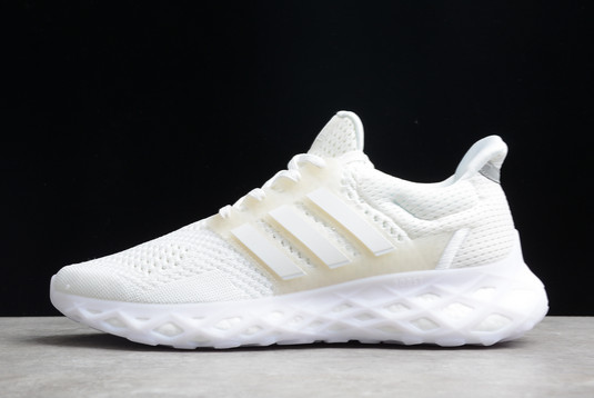 2021 adidas Ultra Boost DNA Web Triple White GY4167 For Sale