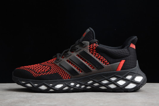 2021 adidas Ultra Boost Web DNA Black Red GY8091 For Sale